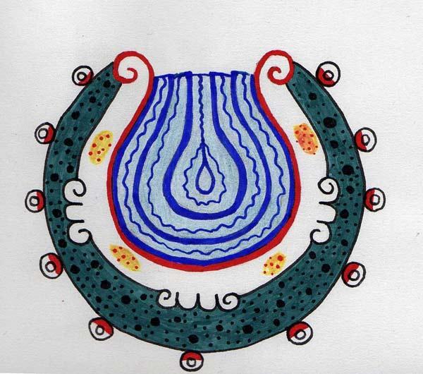 Dibujado a partir de una imagen del Códice Borgia