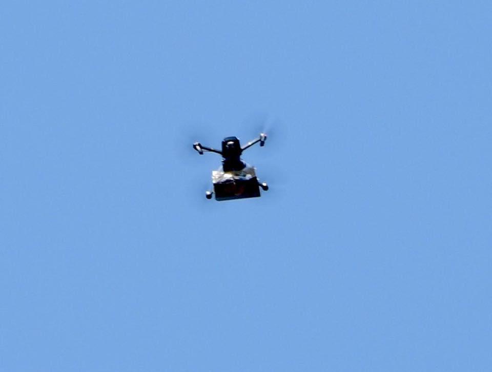 Dron hace llover marihuana en Israel