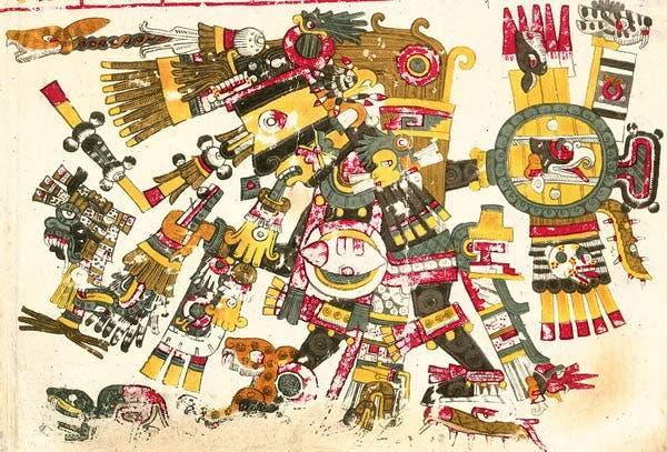 Tezcatlipoca en el Códice Borgia