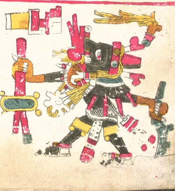 Ehécatl descrito en el Códice Borgia