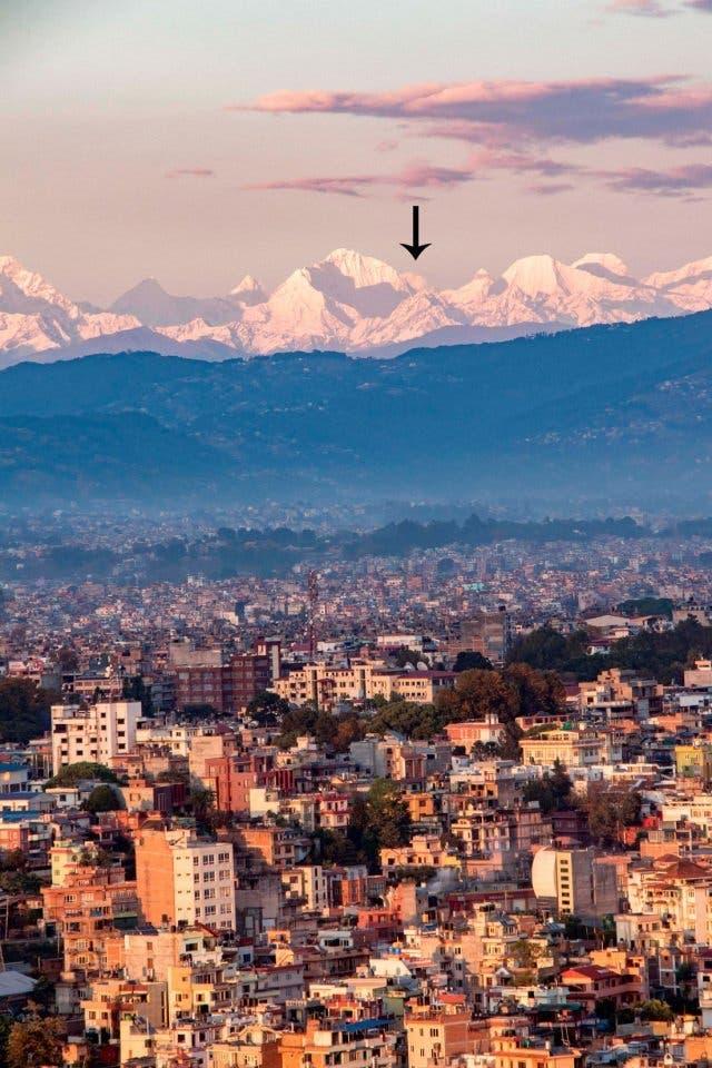 Everest desde Katmandú en esta cuarentena