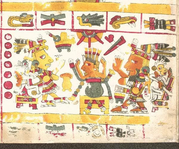 Ometecuhtli y Omecihuatl descrito en el Códice Borgia
