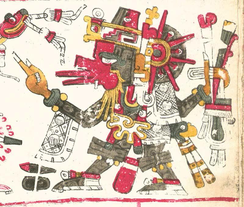 Quetzalcóatl en el Códice Borgia