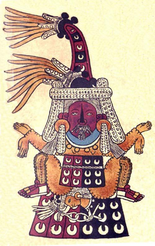 Tlazoltéotl descrita en el Códice Borbónico