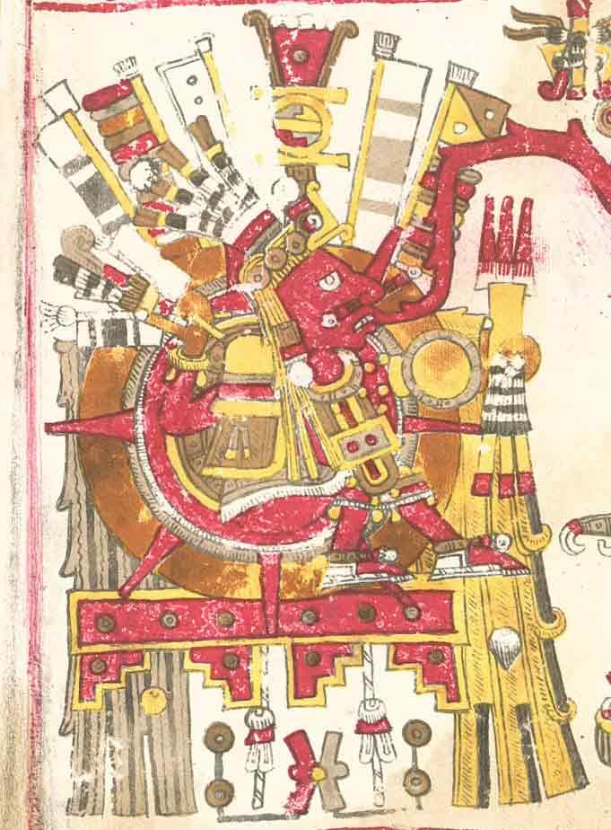 Tonatiuh descrito en el Códice Borgia
