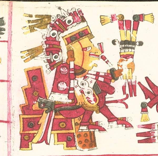 Xipe Tótec descrito en el Códice Borgia