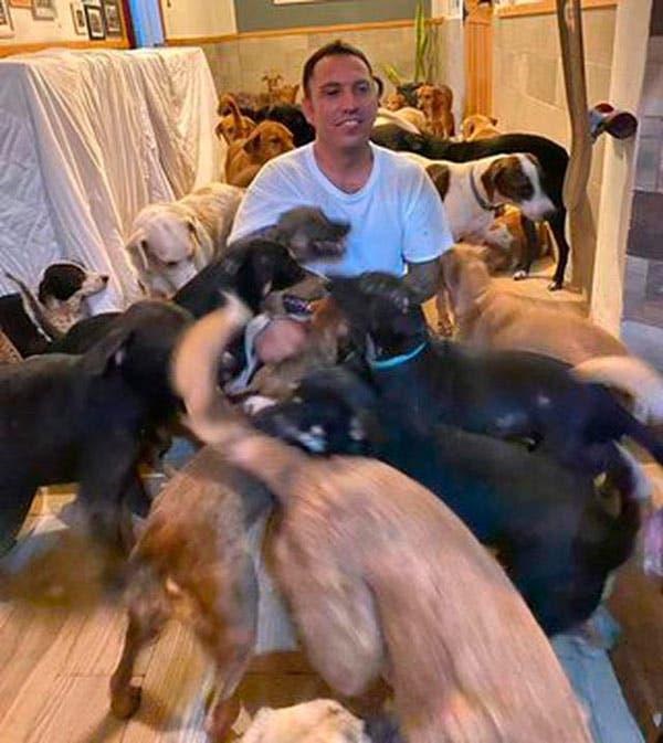 Hombre da refugios a 300 perros para salvarlos del huracán Delta