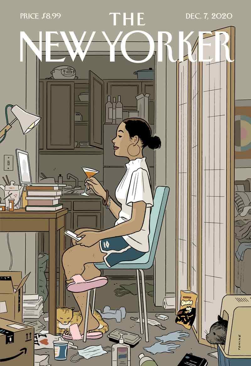 El retrato preciso de una generación: la ilustración de Adrian Tomine para The New Yorker