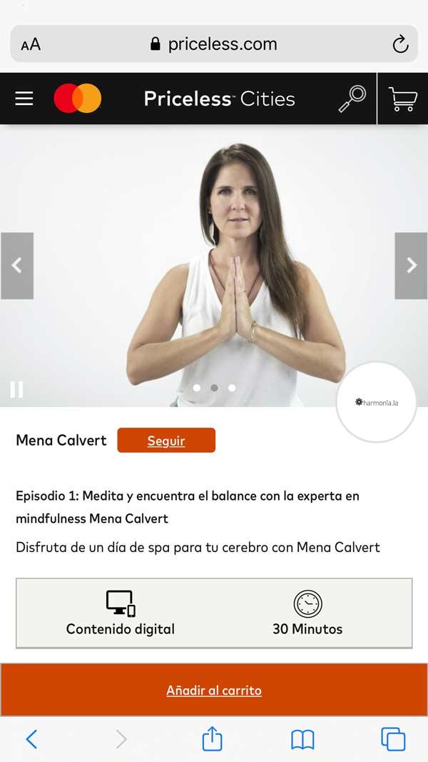 Medita junto a Mena Calvert y desarrolla paz y tranquilidad para tu mente
