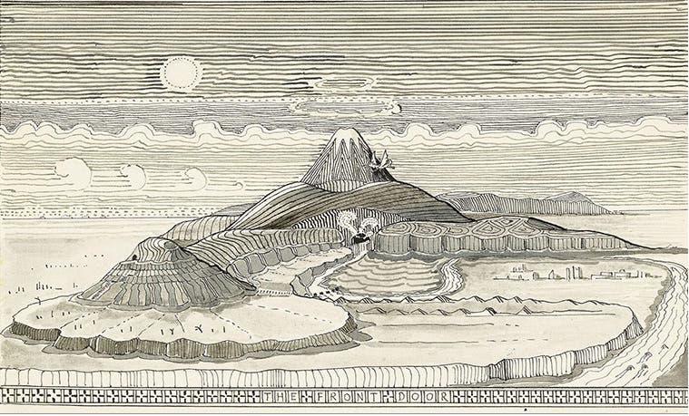 """Los dibujos que Tolkien hizo para """"El hobbit"""" (IMÁGENES)"""