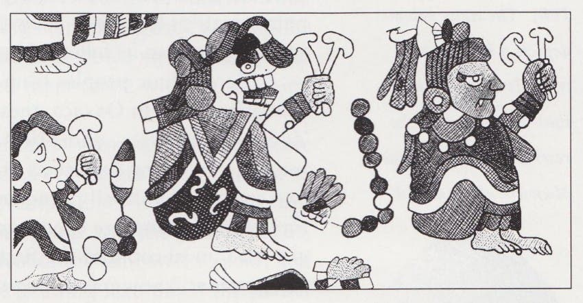 Mayan Deities with Mushrooms_0