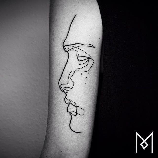 Diseños De Tatuajes A Partir De Dibujos De Una Sola Línea